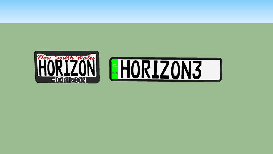 Forza Horizon 3 Licnese Plate NSW Horizon Style
