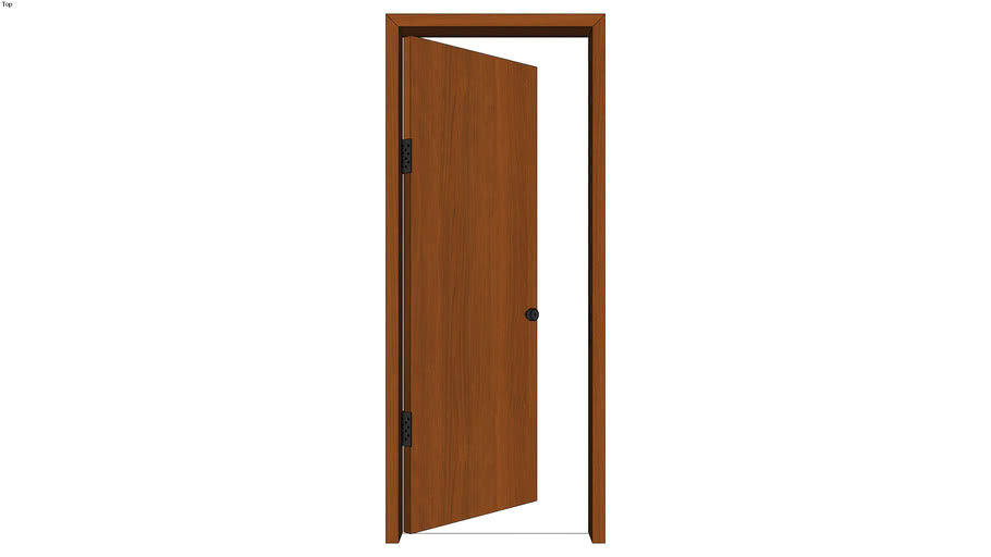 Door with Jamb Left Ajar - Detailed   3D Warehouse