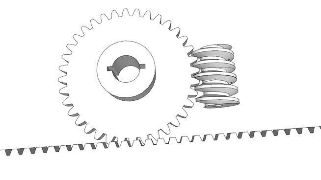 worm wheel plus gear