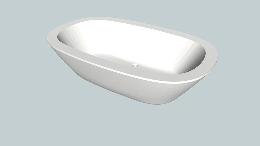 Dado Acanthus Freestanding Stone Bath