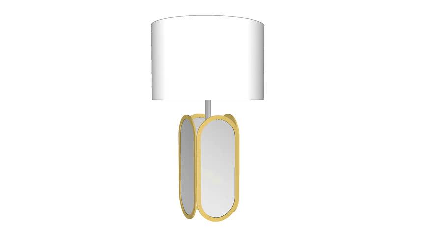 PBteen_mirrored metallic table lamp