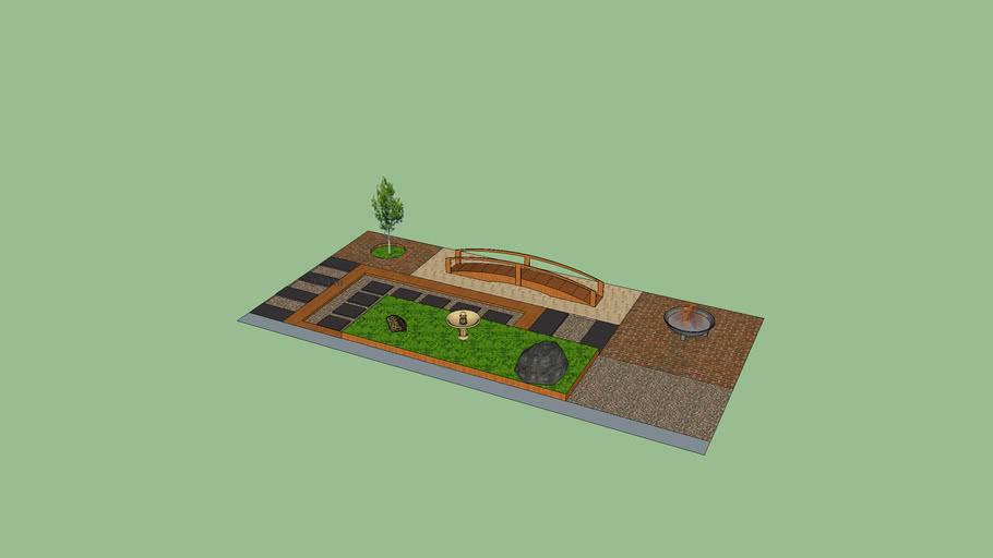 Oriental court yard landscape