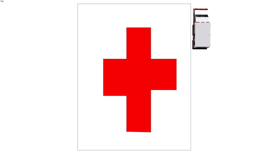 ziekenhuis met ambulance