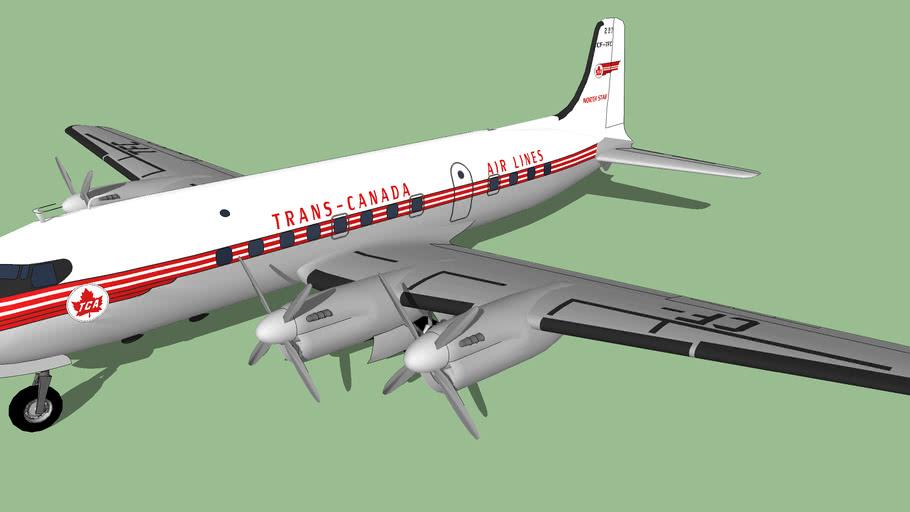 Trans-Canada Air Lines (1956) - Canadair DC-4M2 North Star M2-4