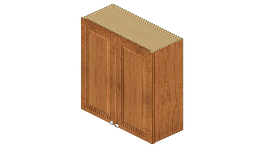 Wall Double Door Cabinet 15x36H