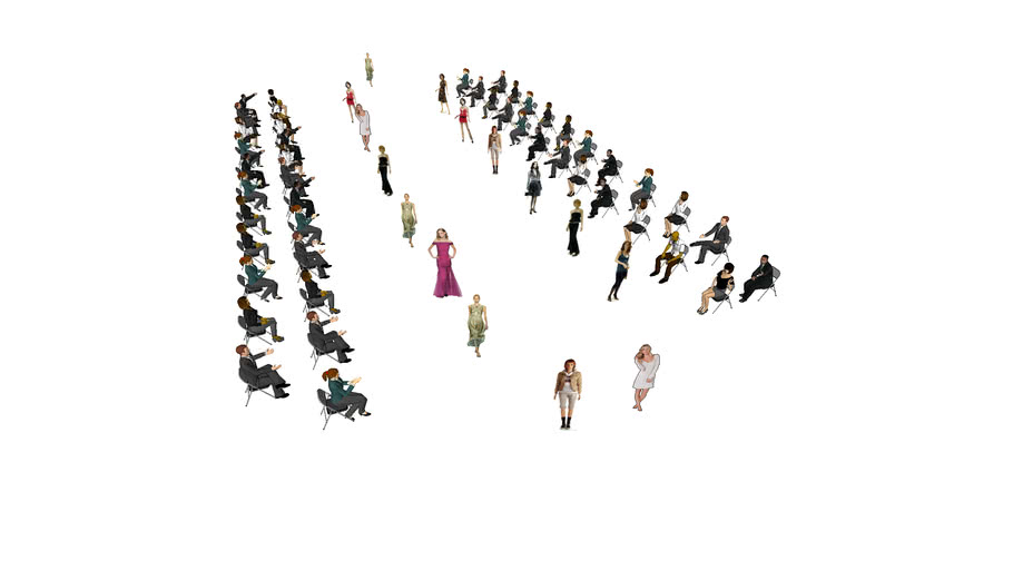 3D People for catwalk