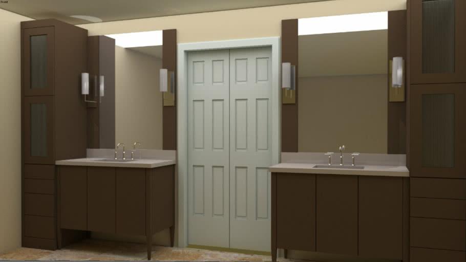 Modern Master Bath Cabinets Remodel