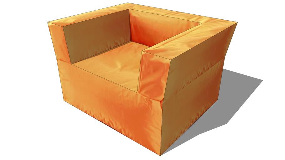 fauteuil PAPAGAYO orange, maisons du monde, ref 121832, 99€