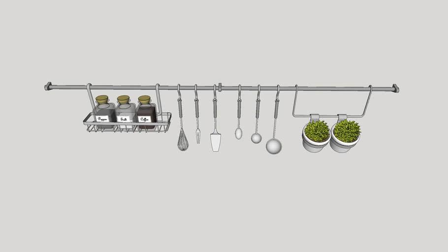 Utensílios de cozinha - Suporte de parede