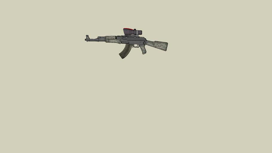 AK-47 with acog