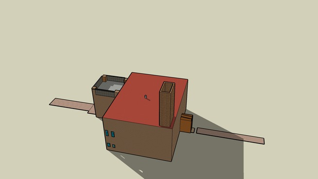tan stucco house