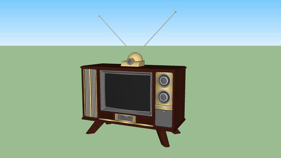 Cosmic Prysmacolor Console Television