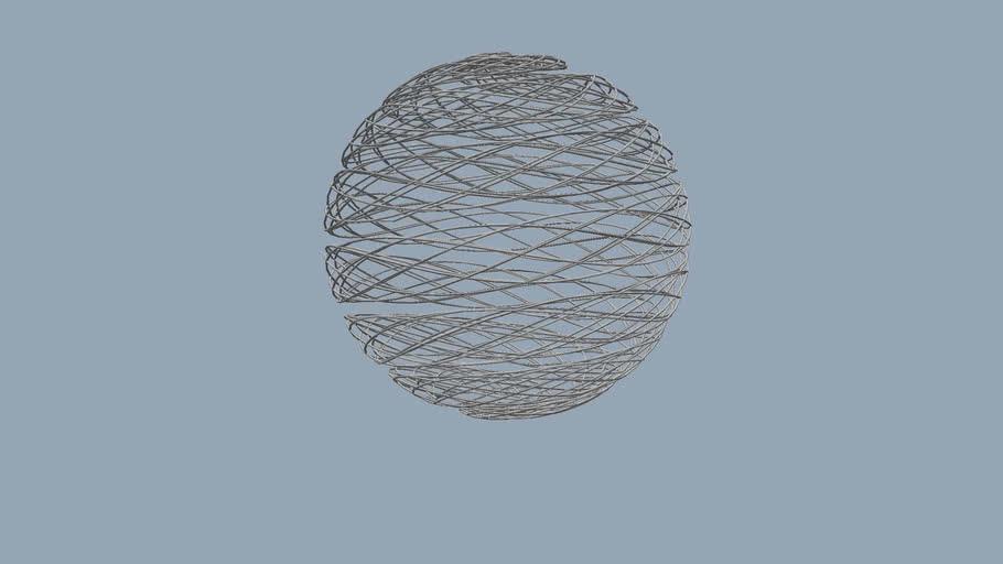 Spiral Wire Mesh Sphere 2