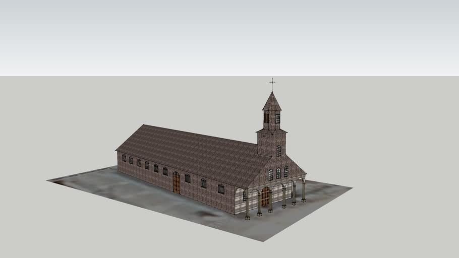 Iglesia Santa María de loreto de Achao Chiloé