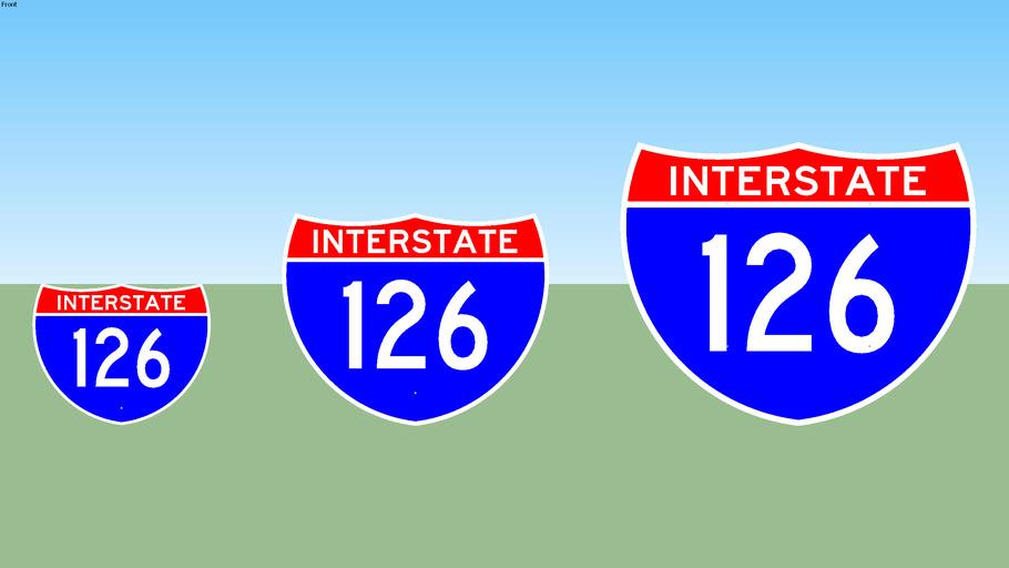 Interstate 126 Sign