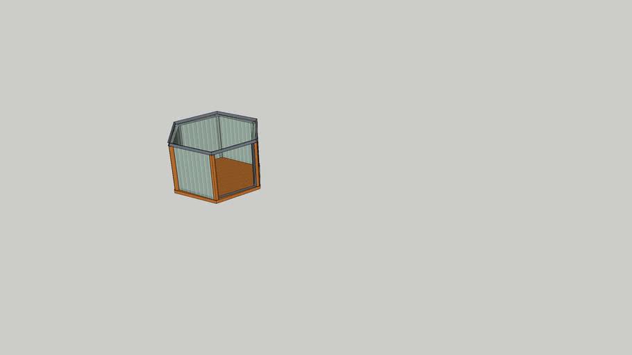altıgen oturma alanı modellemesi acık 4 metrelik