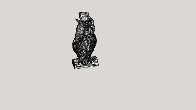 Owl boy statue
