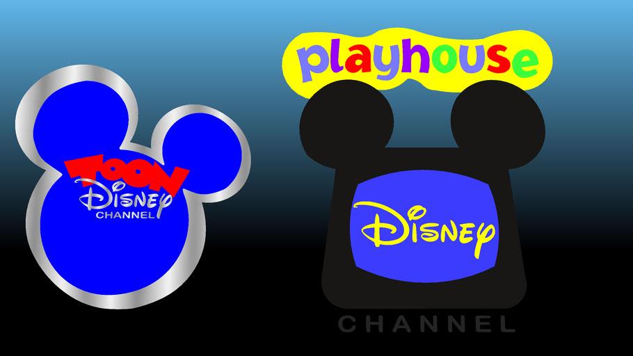 Playhouse Disney Channel Logo With A Logo Of Toon Disney