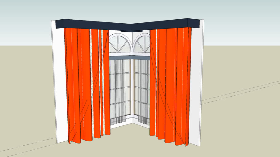 red curtain and decorations