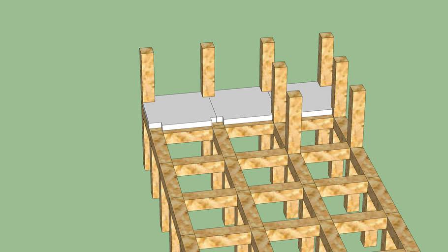 Начало строительства здания (макет)