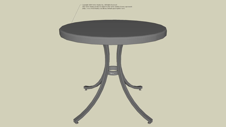 PRSCT-36 Production Series™   Round Cafe' Table