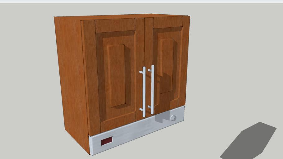 Mueble de cocina en madera para colgar con extractor de humos