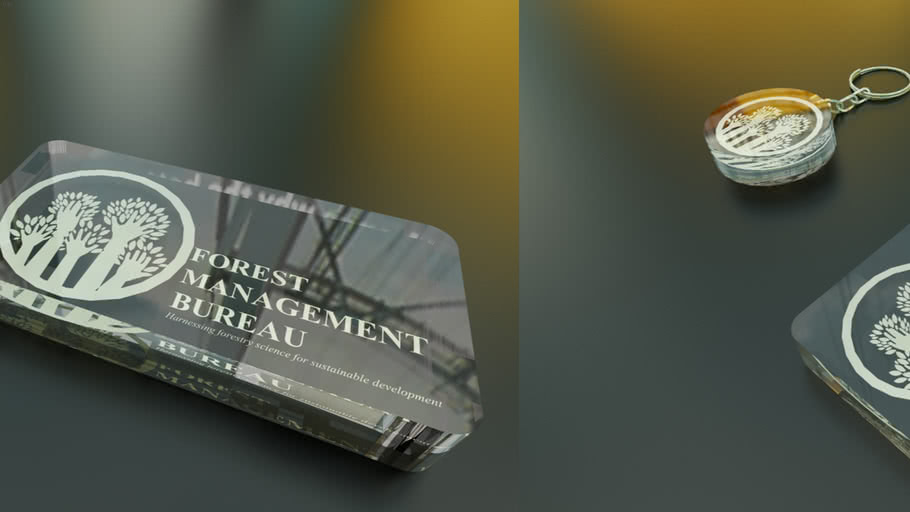 optic crystal paper weight design