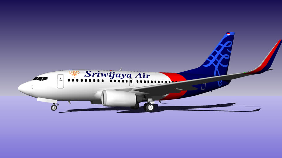 Sriwijaya Air B 737 500 3d Warehouse