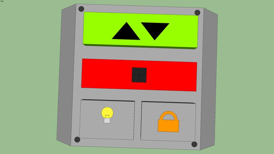 Electronic garage door opener control