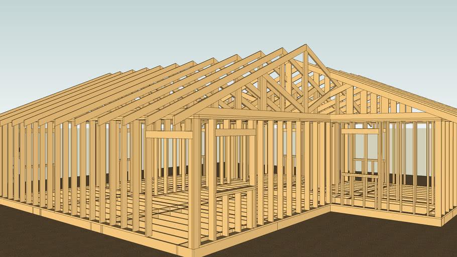 Framed Full Size House.