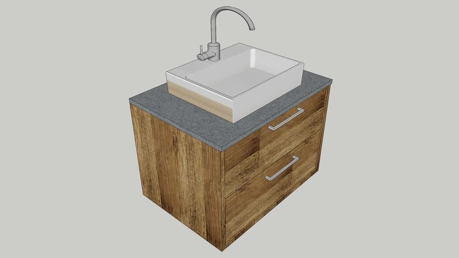 meuble vasque 70 x 50cm
