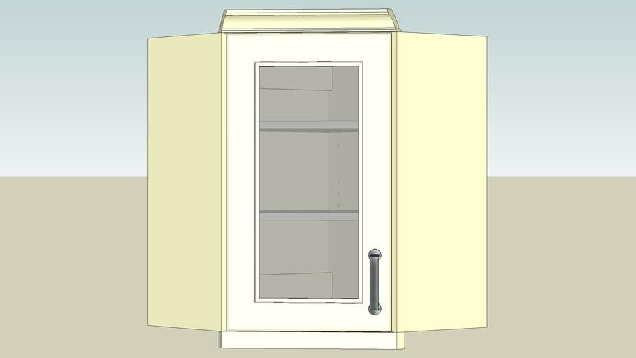 Kitchen Cabinet - 45deg Corner Wall