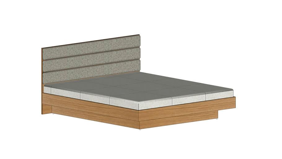 veneer floating bed