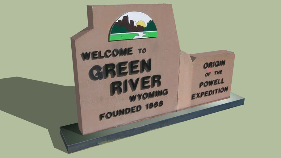 Welcome Sign Green River, Wyoming
