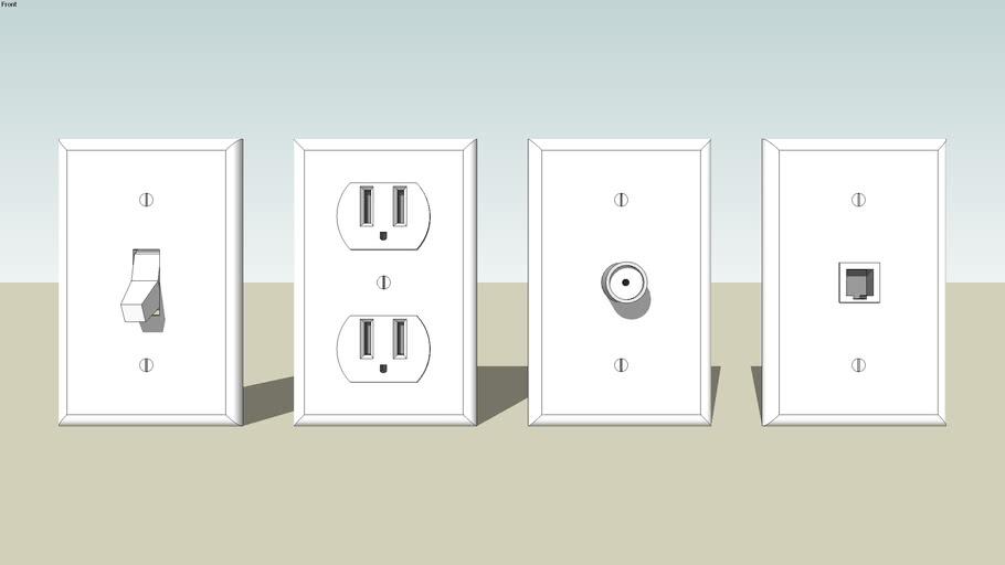 On/Off,conection cable,conection téléphone et prise de courant