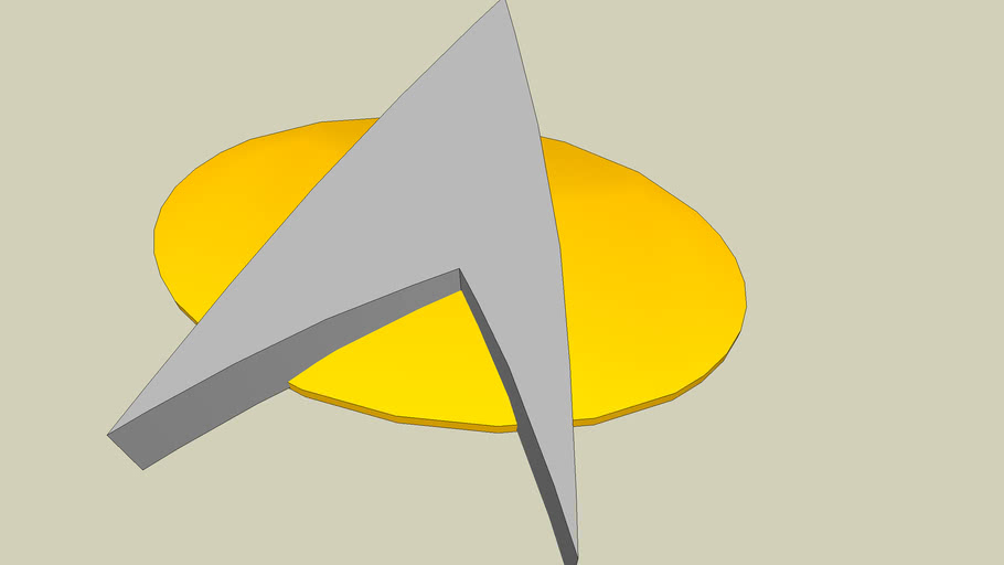 Starfleet  communicator pin. (TNG)