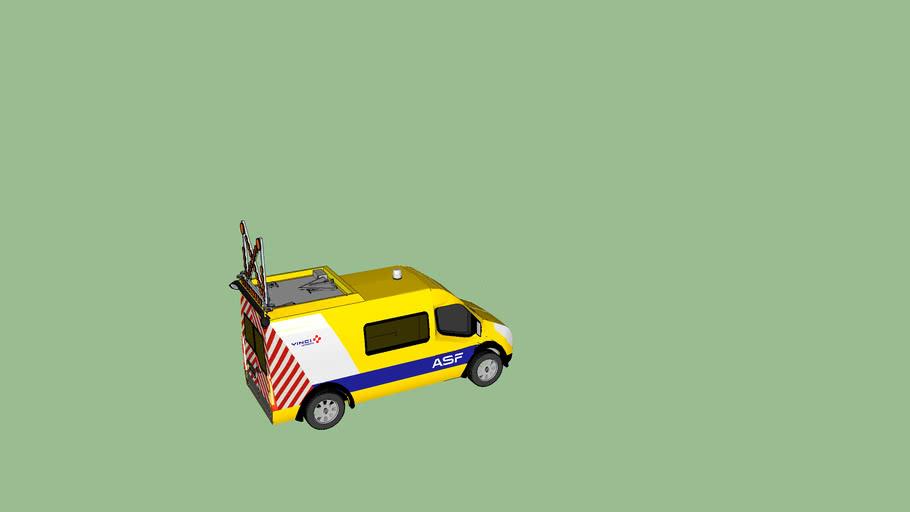 Patrouille Vinci Autoroutes - ASF    Renault master