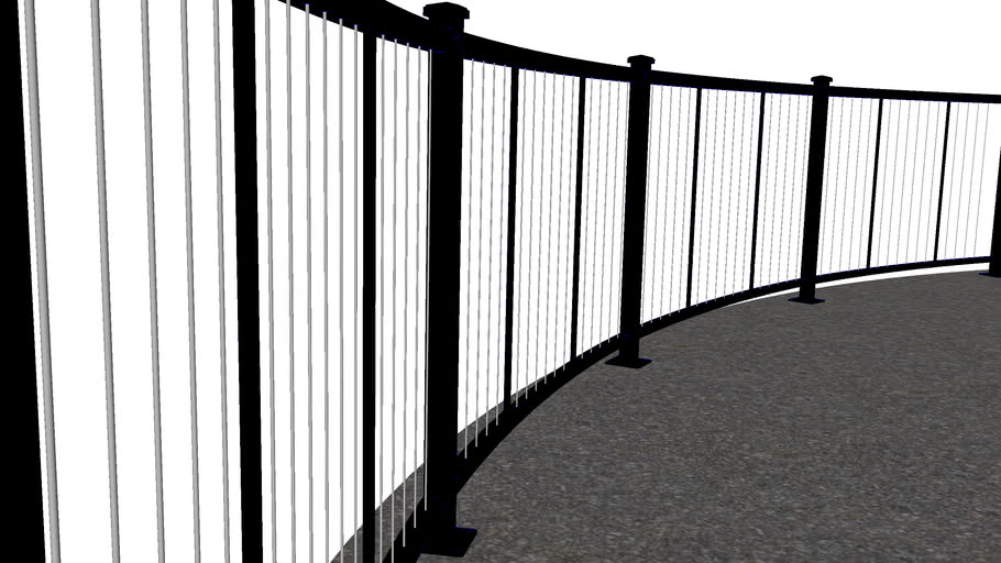 Vertical Cable Railing -Curved