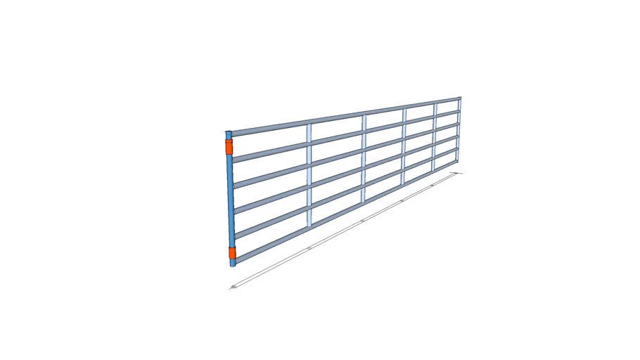 Gate-4' x 6 bar-22'