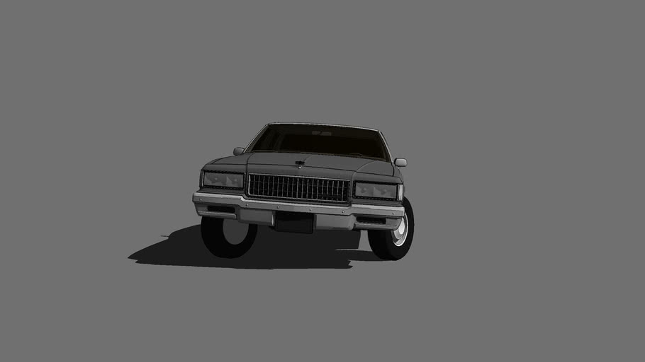 1987 Chevrolet Caprice turning at a high speed