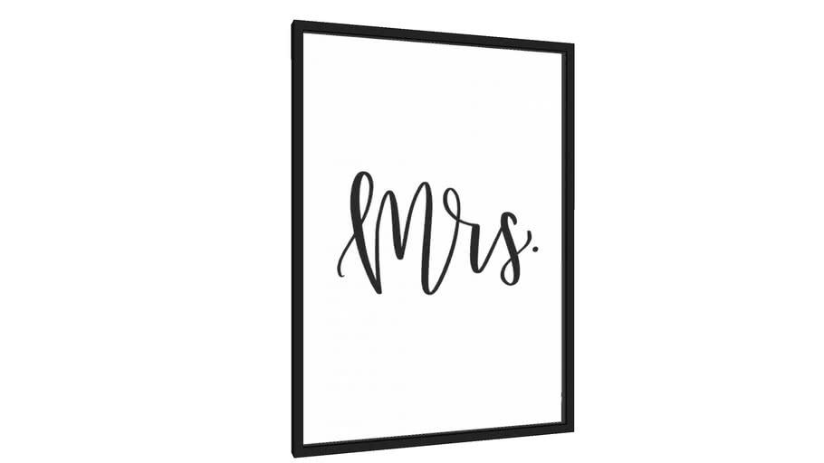Quadro Mrs. - Galeria9, por Rachel Moya