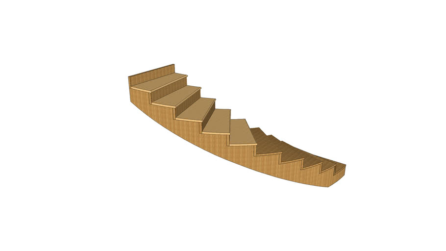 Curved Stairs wooden