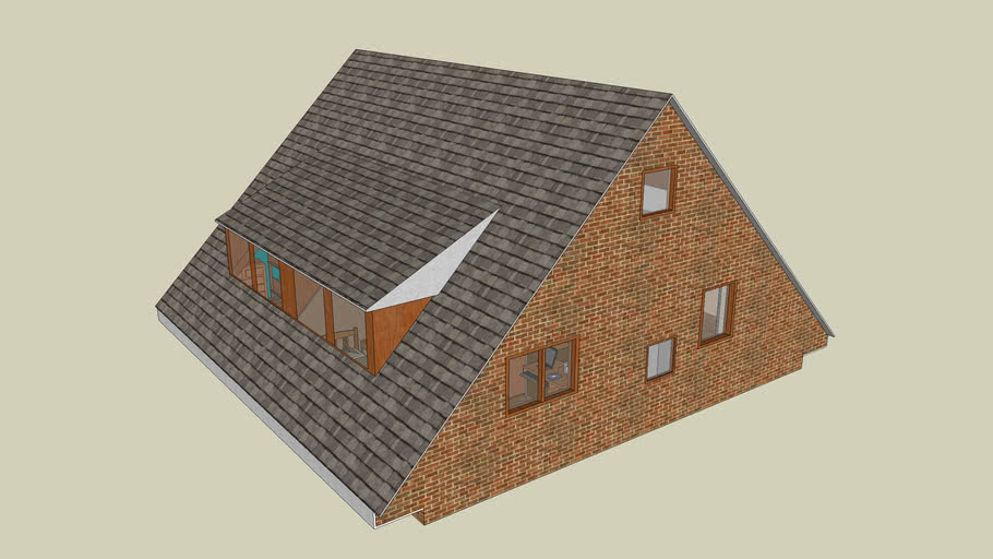 house roof  with interior