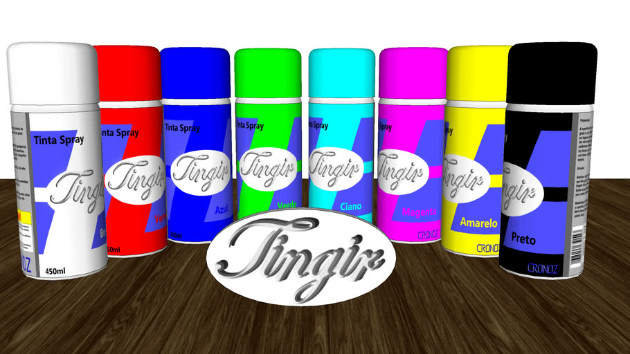 Tingir Spray can (Only portuguese rotule)