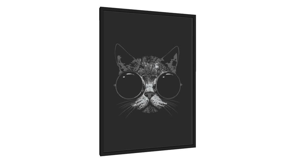 Quadro Gato Style - Galeria9, por leandrojsj