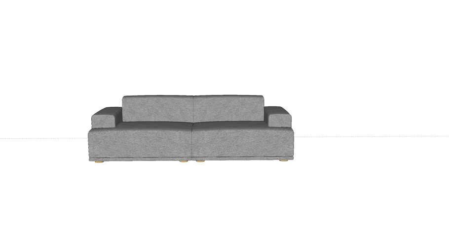 Connect sofa system - 3 seater- by Muuto - designed by Anderssen & Voll
