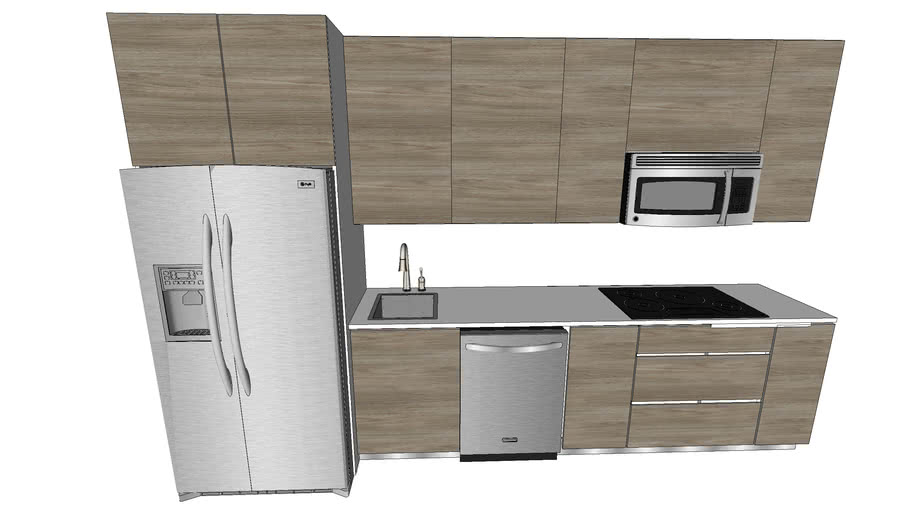 Modern 1 Bedroom Kitchen
