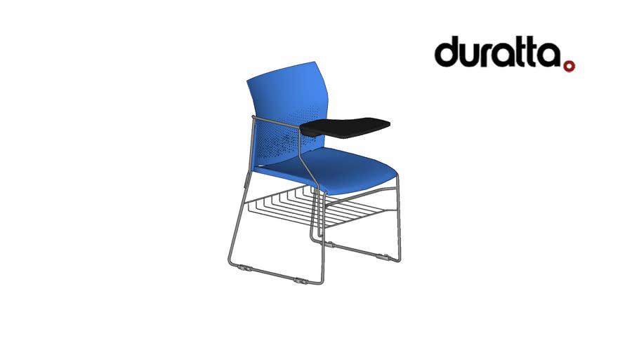 Cadeira Conecta com Prancheta Escamoteavel com Suporte para Livros