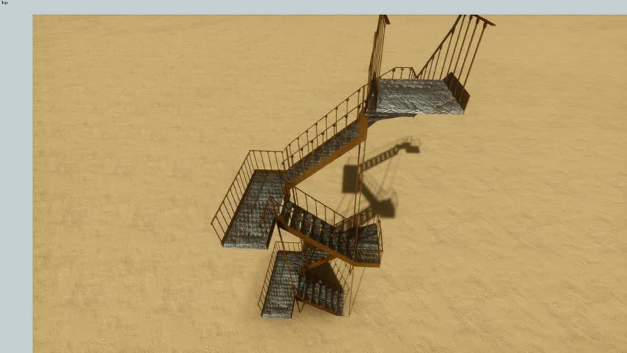 Metal Ladder stairs merdiven 2 floor two attic for