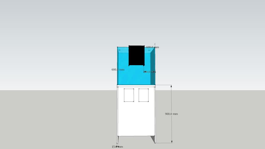2 Feet cube tank